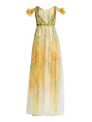 Notte by Marchesa printed tulle gown