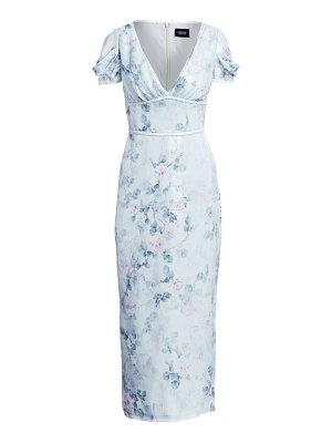 Notte by Marchesa puff sleeve sequin floral dress