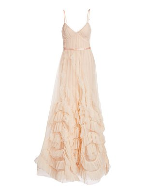 Notte by Marchesa ruffled tulle a-line gown
