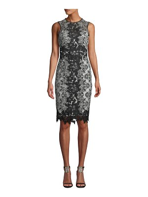 Notte by Marchesa Sleeveless Lace Colorblock Dress