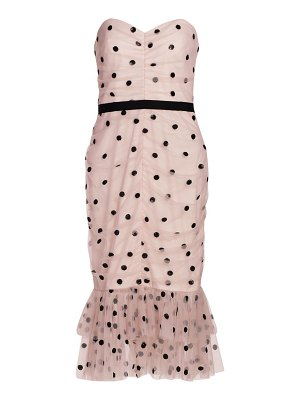 Notte by Marchesa strapless polka dot dress