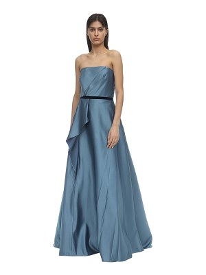 Notte by Marchesa Strapless satin gown