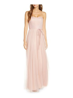 Notte by Marchesa strapless tulle bridesmaid gown