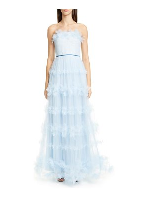 Notte by Marchesa strapless tulle gown