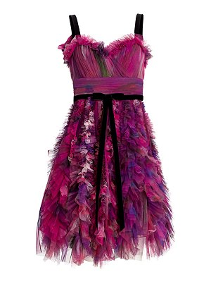 Notte by Marchesa textured tulle mini a-line cocktail dress