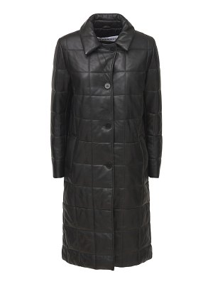 Nour Hammour Astor leather quilted coat