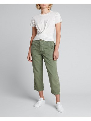 NSF Clothing Frances Crossover Tie-Back Tee
