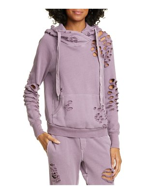 NSF Clothing lisse destroyed pullover hoodie