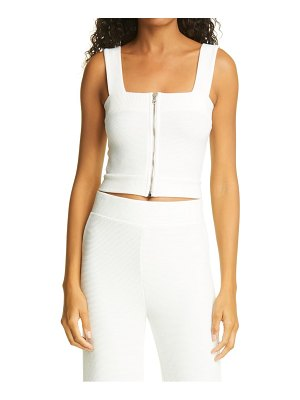 NSF Clothing nevy front zip tank