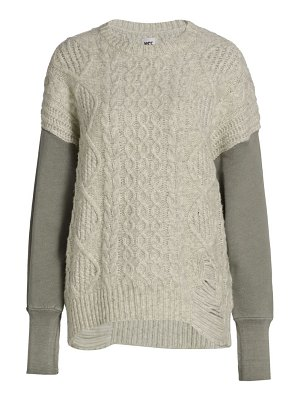 NSF nico cable knit sweater