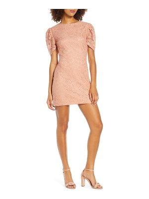 NSR angelique puff sleeve lace minidress