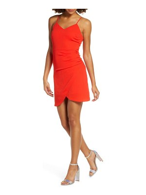 NSR carrie ruched tulip cocktail dress