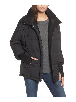 NVLT knit trim down & feather fill jacket