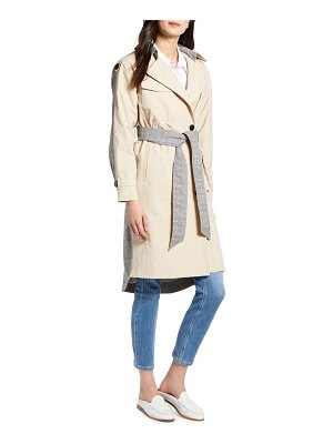 NVLT mixed media trench coat