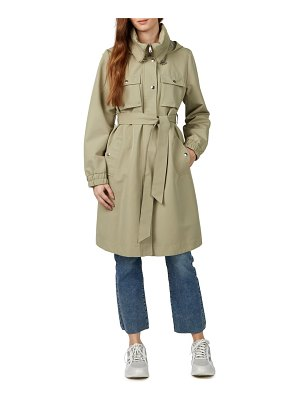 NVLT water resistant hooded trench coat