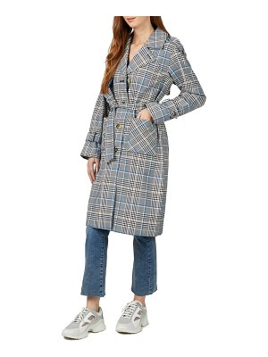 NVLT water resistant plaid trench coat