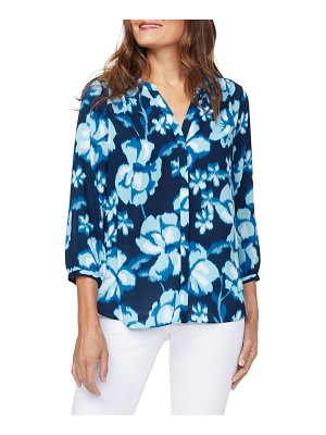 NYDJ floral pintuck blouse