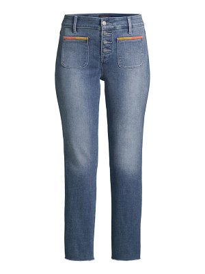 NYDJ marilyn embroidered straight-leg ankle jeans