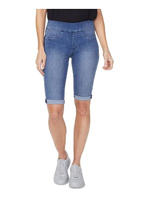 NYDJ pull-on denim bermuda shorts