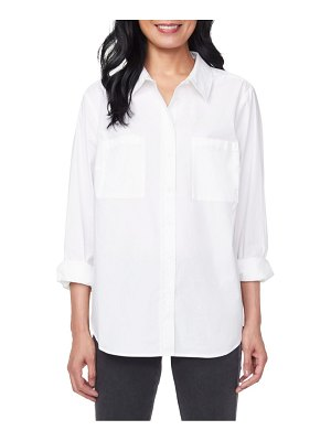 NYDJ stretch-cotton utility shirt