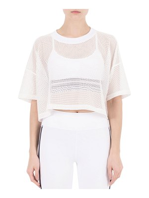 Nylora Lissy Short-Sleeve Mesh Crop Top