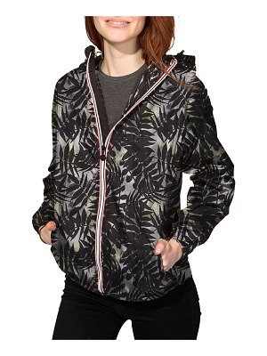 O8 LIFESTYLE Sloane Printed Full-Zip Packable Rain Jacket