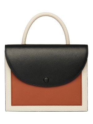 OAD assembly colorblock leather crossbody bag