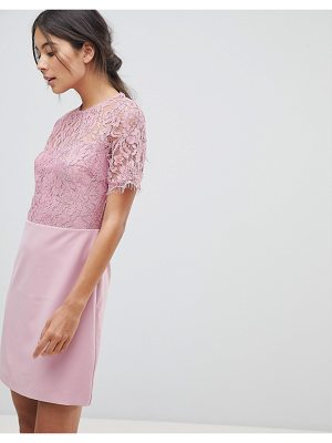 Oasis Lace Sleeved Shift Dress