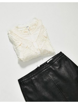 Object frill detail shirt in white