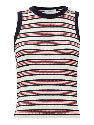 Odyssee liberte striped knitted tank top