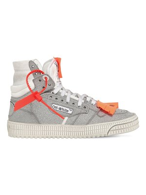 OFF WHITE 20mm off court glitter leather sneakers