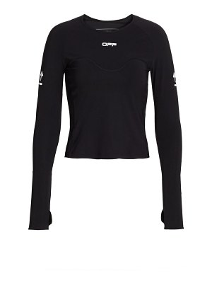OFF-WHITE active long sleeve top