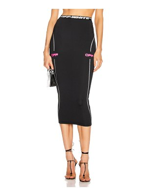 OFF-WHITE active pencil skirt