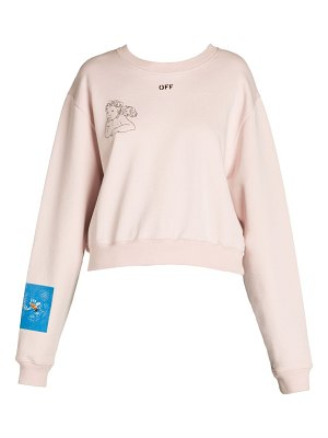 OFF-WHITE angel cropped crewneck sweatshirt