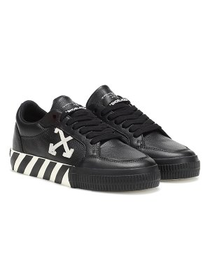 OFF-WHITE low vulcanized leather sneakers