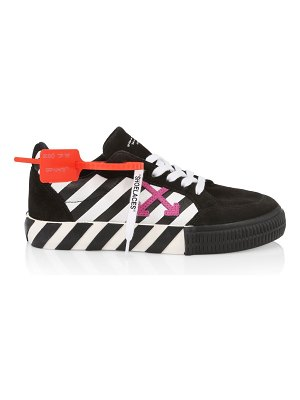 OFF-WHITE arrow low-top suede sneakers