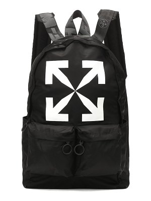 OFF-WHITE printed nylon backpack