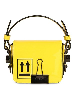 OFF-WHITE Baby flap patent leather shoulder bag