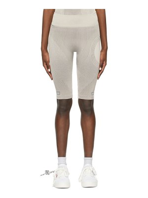 OFF-WHITE beige seamless meteor cycling shorts