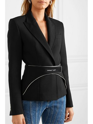 OFF-WHITE belted woven blazer