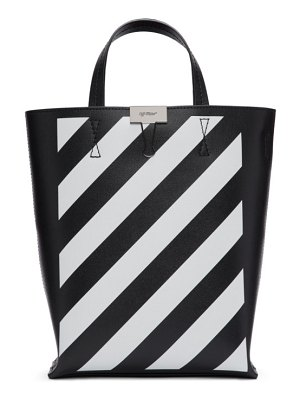 OFF-WHITE black and white diag tote