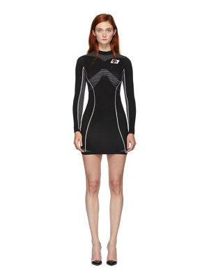 OFF-WHITE black athletic long sleeve dress