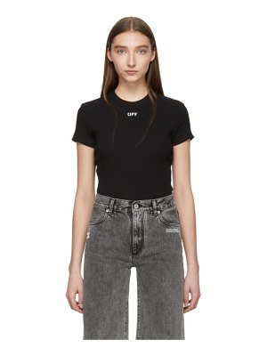 OFF-WHITE black fitted t-shirt