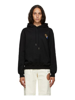 OFF-WHITE black leaves arrow hoodie