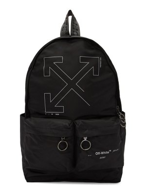 OFF-WHITE black unfinished backpack