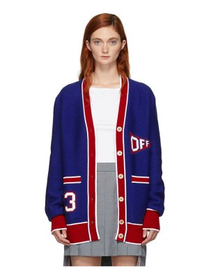 OFF-WHITE blue and red flag cardigan