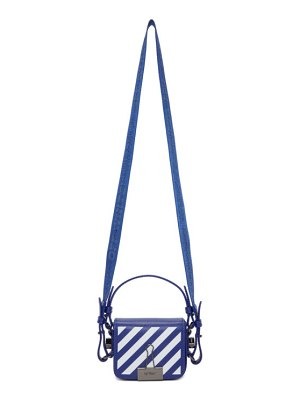 OFF-WHITE blue baby diag flap bag
