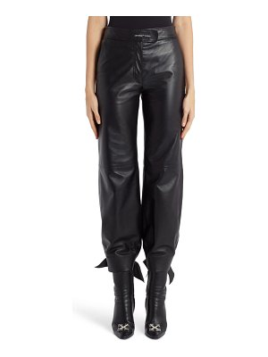 OFF-WHITE bow leather track pants