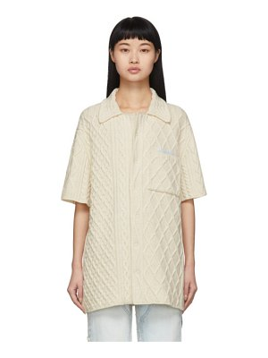 OFF-WHITE cable knit short sleeve shirt