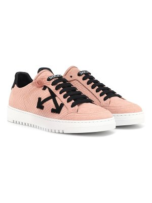 OFF-WHITE Carryover embossed suede sneakers